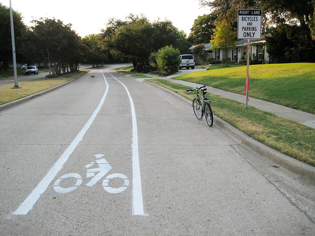 Bike Lane Shared With Residential Parking