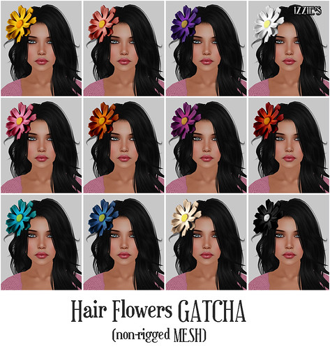 Hair Flowers Gatcha