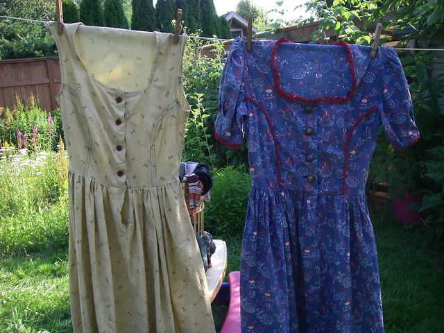 dresses on the line
