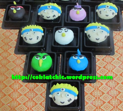 Minicupcake Angry Bird dan minicupcake Naruto
