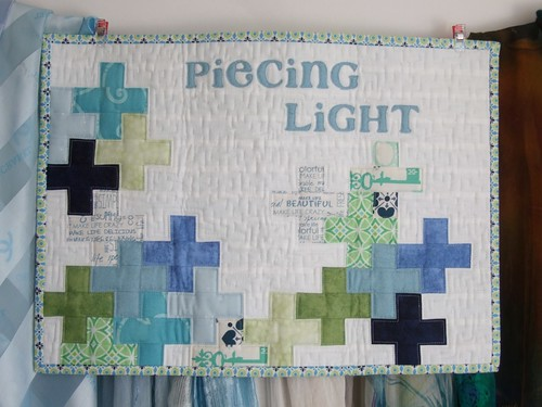 Name Game quilt: in its home!