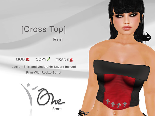 [Cross Top] Red