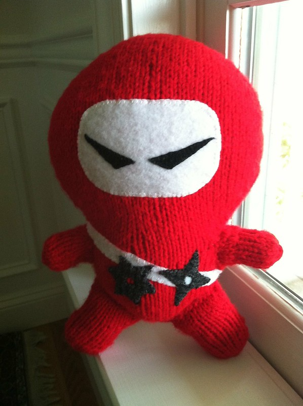 Knitted ninja finished.