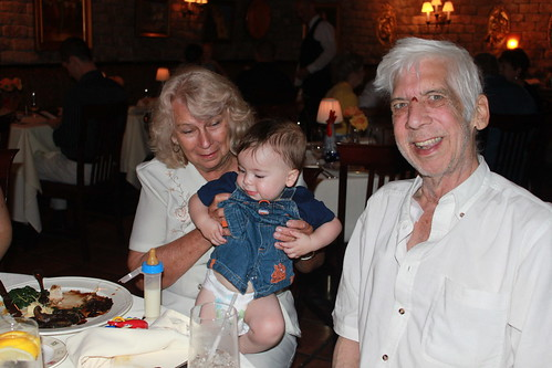 Sagan's First Birthday - Grandma with Two Birthday Boys
