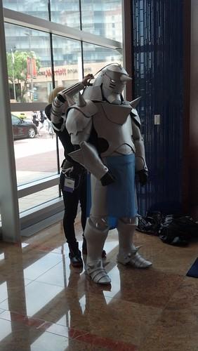 Man Cosplaying as Robot