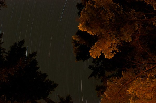Campfire Star Trails