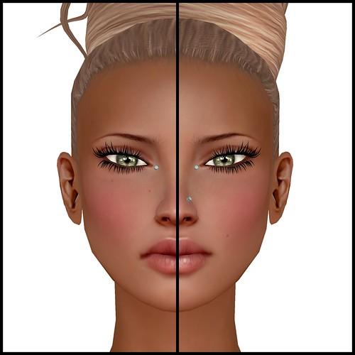 Saga before and after lipgloss