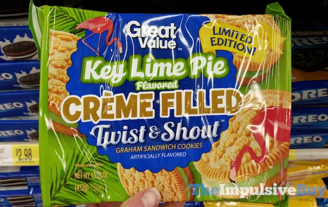 Great Value Limited Edition Key Lime Pie Creme Filled Twist & Shout Graham Sandwich Cookies