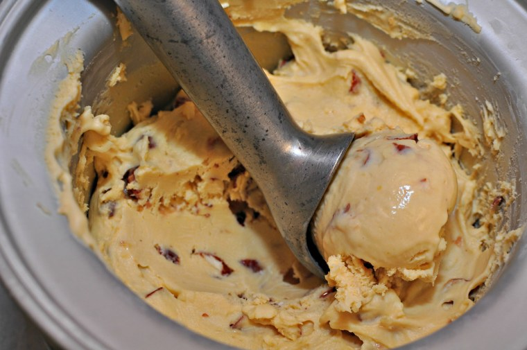 Brown Butter Ice Cream with Pralined Almonds