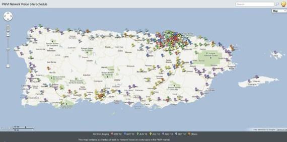 Cobertura Sprint Network Vision Puerto Rico