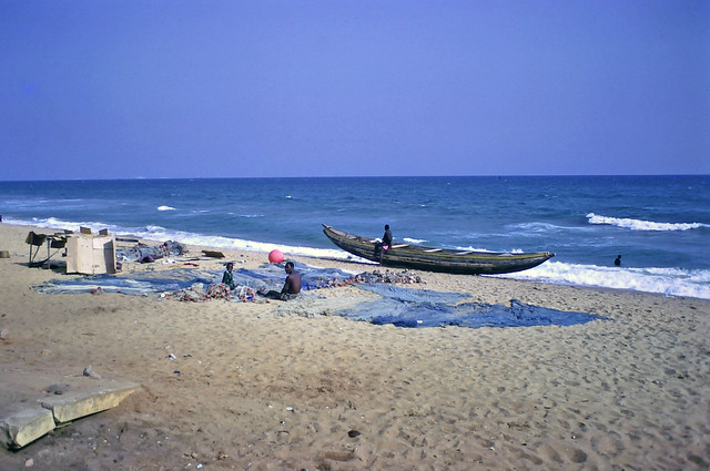 Fisherman & son on the beach - Lomé