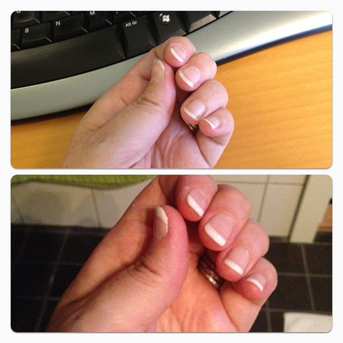 Before and after - trying out shellac for the first time. #loveit