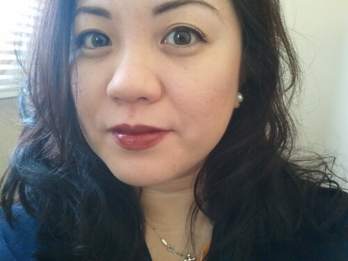 "Me w/Lancome's ""Rouge in Love"" in ""Cocoa Couture"""
