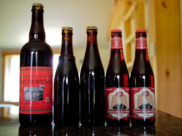 Alvinne Kriek van Mortagne, Trappist Westvleteren 12 and Cuvee Des Jacobins Rouge