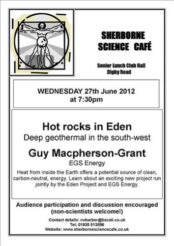 June 2012 Sherborne Cafe Scientifique poster