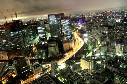 Night City from Mandarin Oriental Tokyo Premier Grand Room