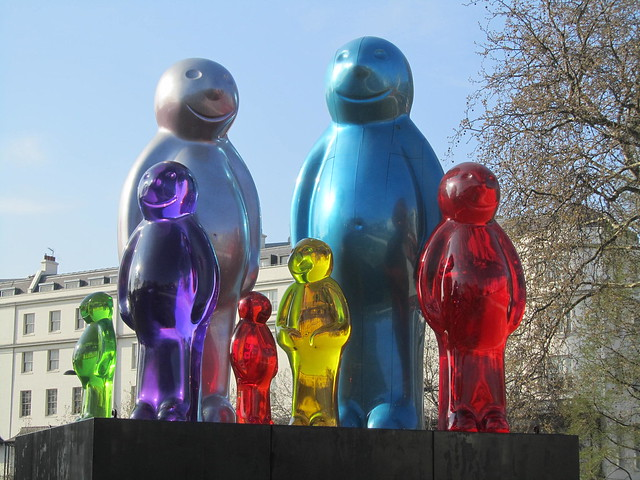 """""""The Jelly Baby Family"""" by Mauro Perucchetti."""