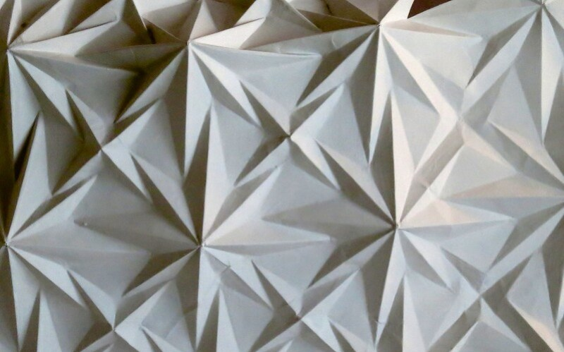 Gesso Piece Origami Tessellations