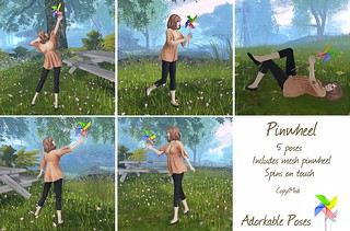 Adorkable Poses:  Pinwheel