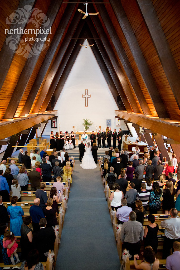 Wedding at St Michaels Church in Prince George BC