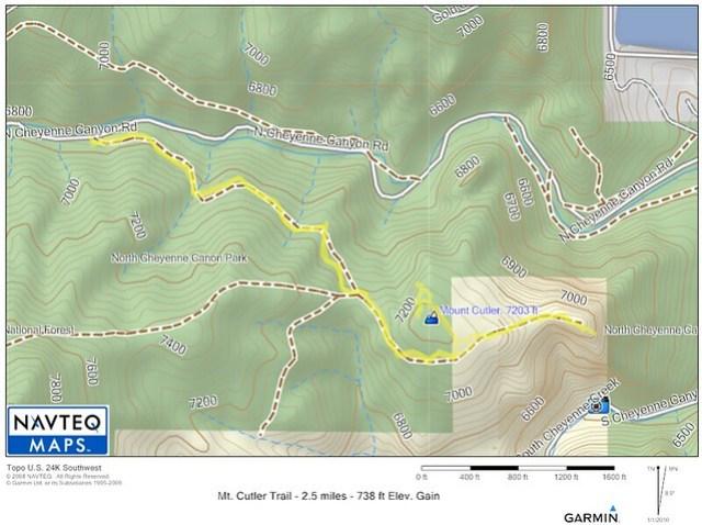 Mt. Cutler Trail Map