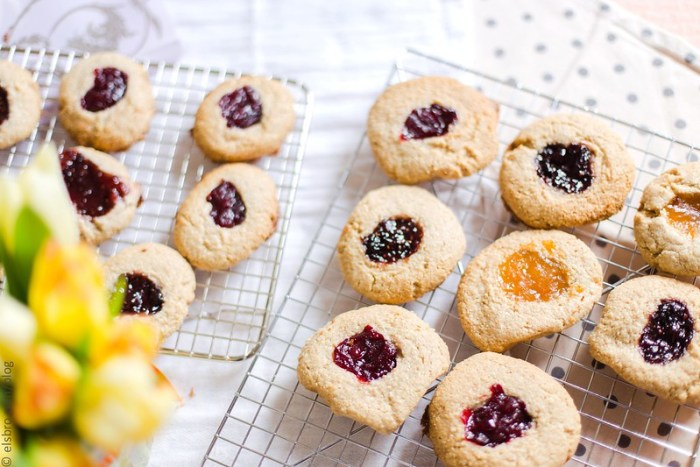Cashew and Oat Thumbprint Cookies
