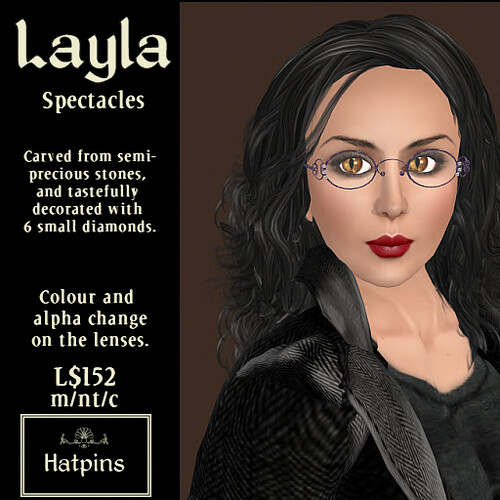 Hatpins - Layla Spectacles - Amethyst
