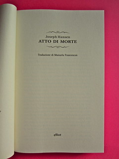Joseph Hansen, Atto di morte, Elliot 2012. cover design e illustration: IFIX. Frontespizio (part.), 2
