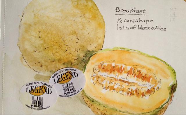 Cantaloupe Breakfast