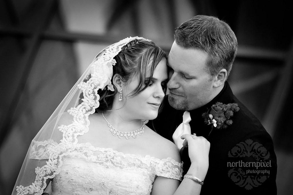 Black and White Wedding Photography UNBC University of Northern British Columbia
