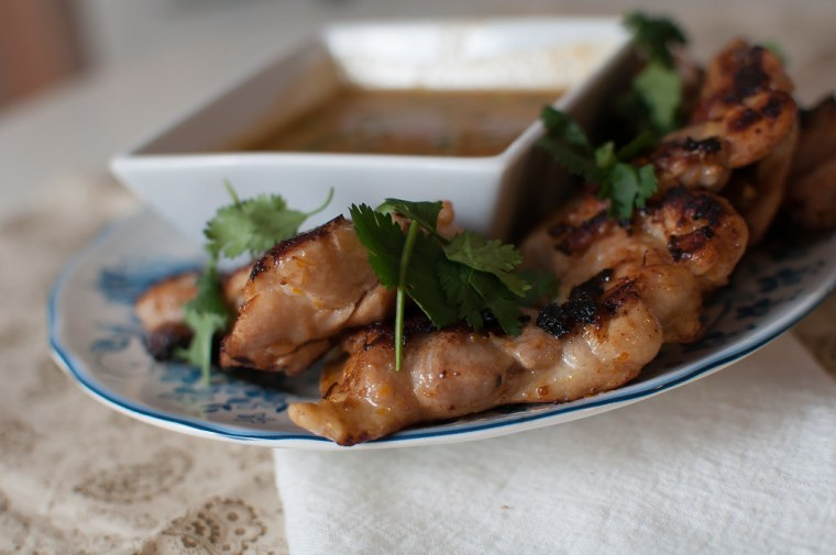 Chicken Satay with Spicy Peanut Sauce 4