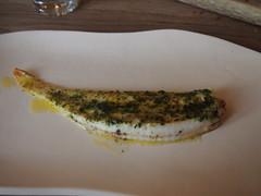Slip sole in seaweed butter