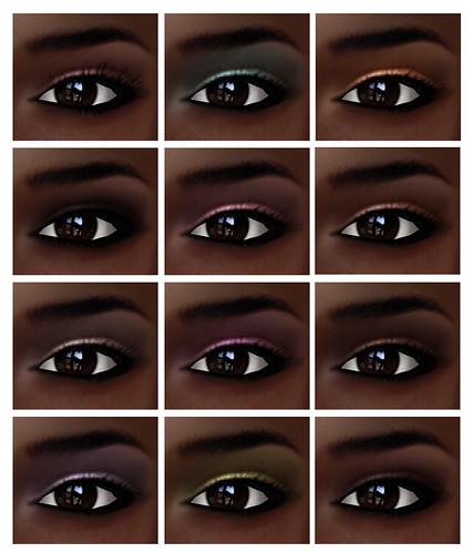 Eliza Eyeshadows dark