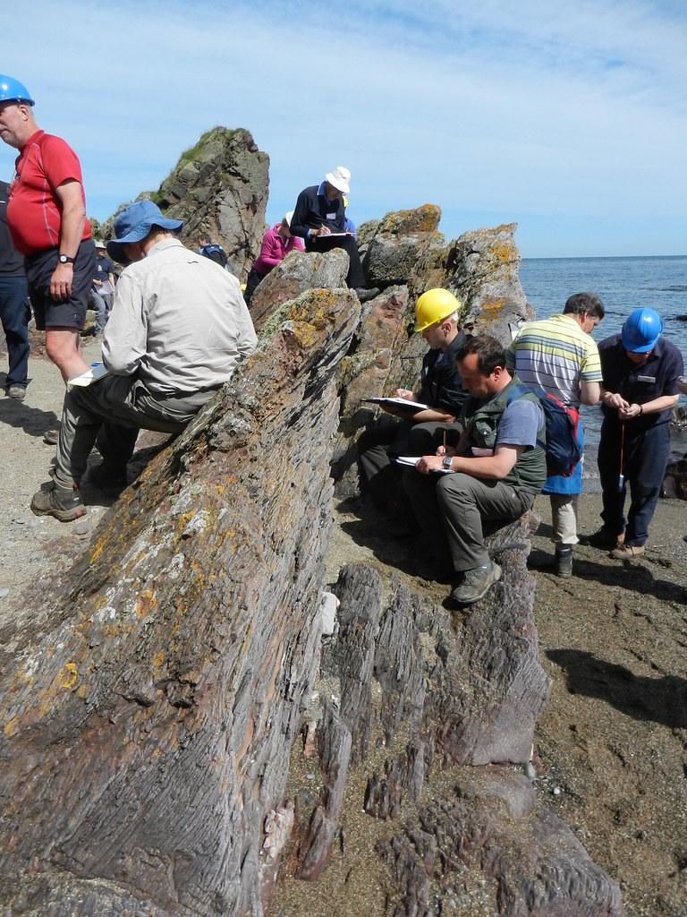 Tilted rocks at Skatie Shore