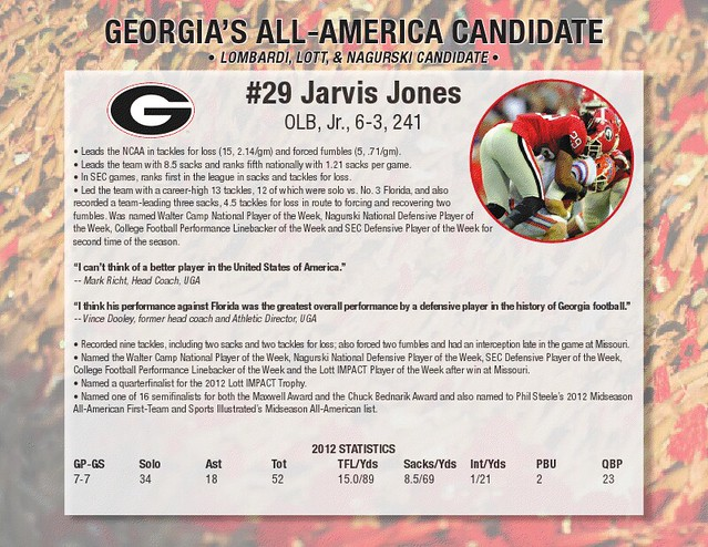 Georgia All-America linebacker Jarvis Jones