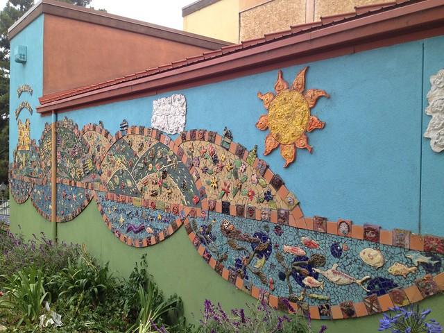 Mosaic mural artwork, McKinley Elementary School