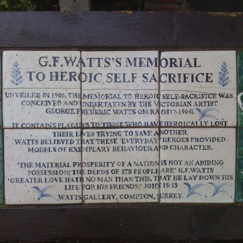 memorial to heroic self sacrifice