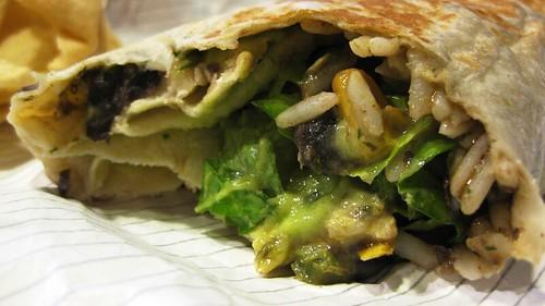 cantina burrito innards