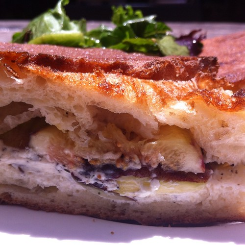 Fig Goat Cheese Panini @ Stable Cafe