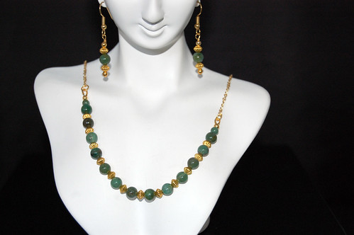 Jade Pagoda Earrings and Necklace