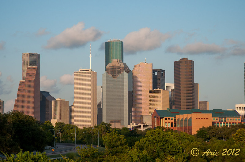 Downtown Houston through Buffalo Bayou