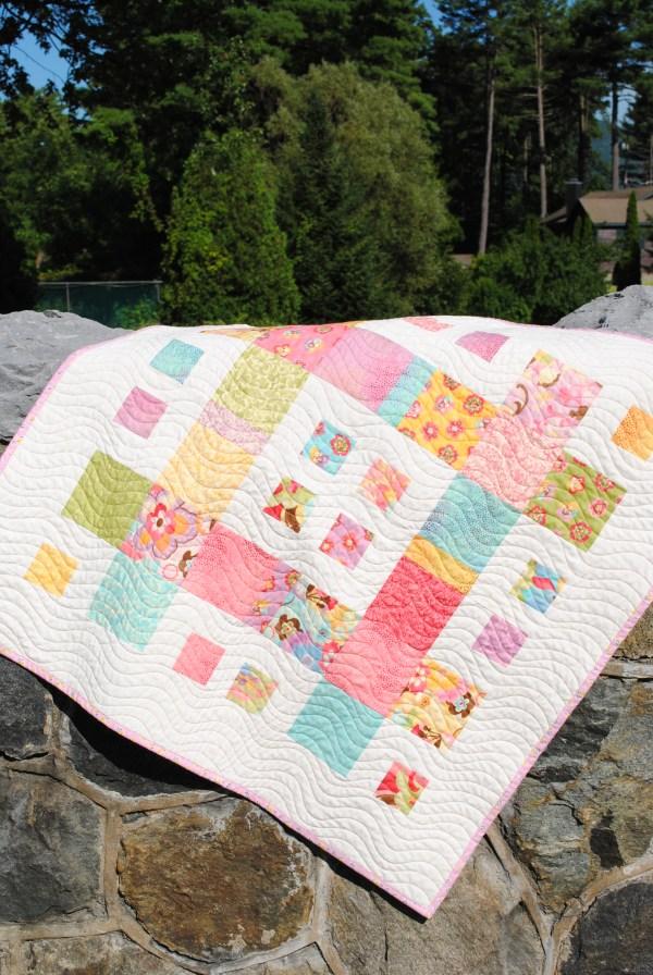 City Blocks Quilt Pattern Sweet Jane Coquette Fabric