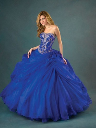 Vestidos de Color Azul