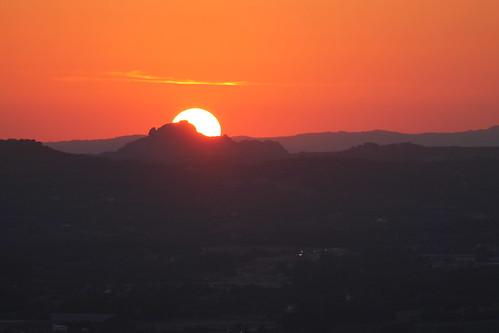 Sardinian sunset / Coucher de soleil en Sardaigne.