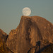 Moon Rise Behind Half Dome