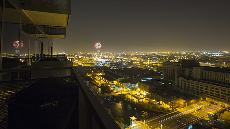 Fireworks from the Balcony