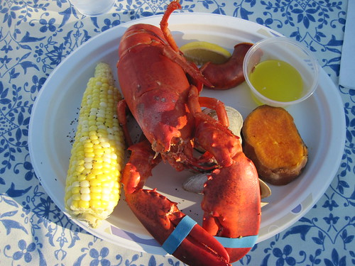 Lobster dinner in Cuttyhunk