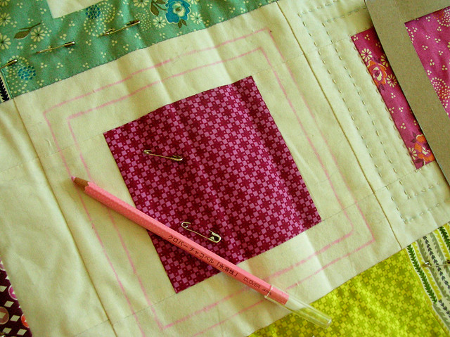 marking my handquilting lines