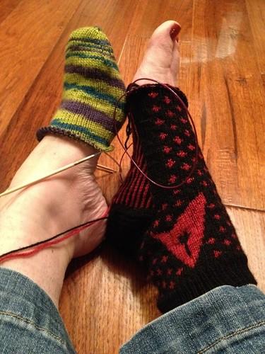 Socks-in-progress
