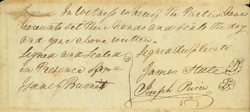 Steele & Peirce co-partnership signatures, 1807